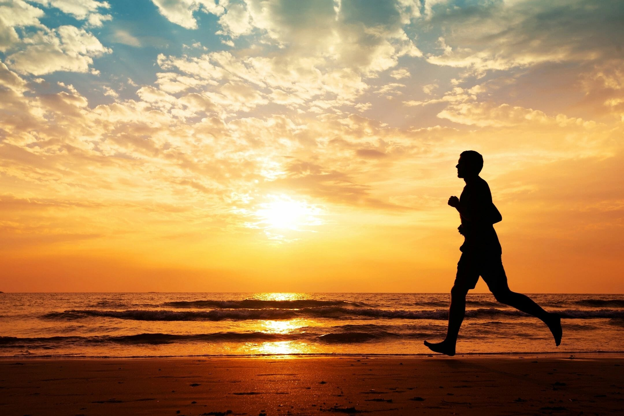 Man jogging as part of healthy living