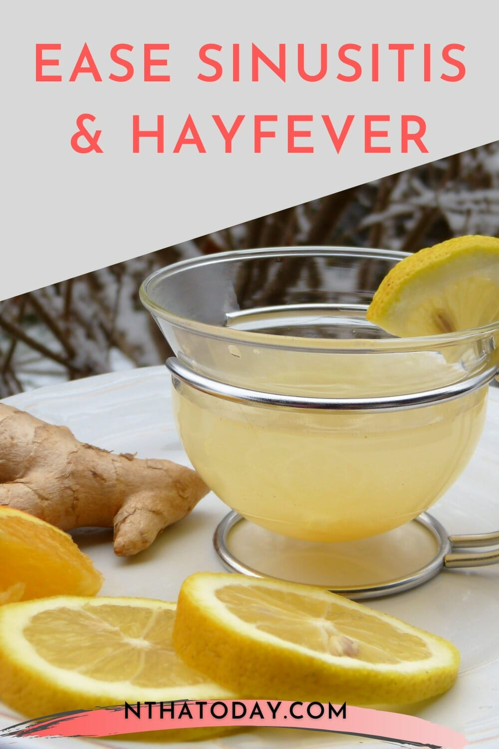 Ginger and lemon drink to fight sinusitis