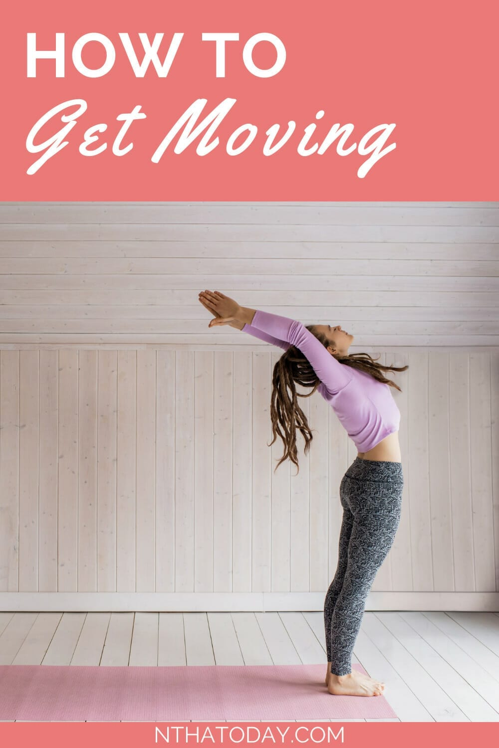 How to get moving woman stretching