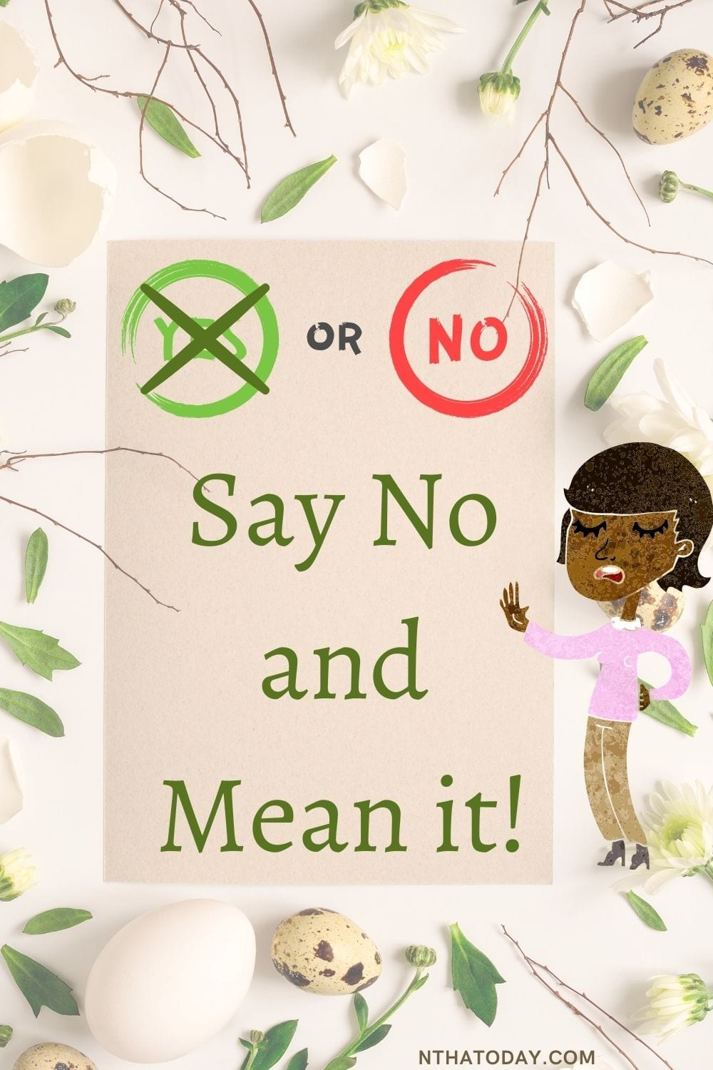 how to say no and mean it
