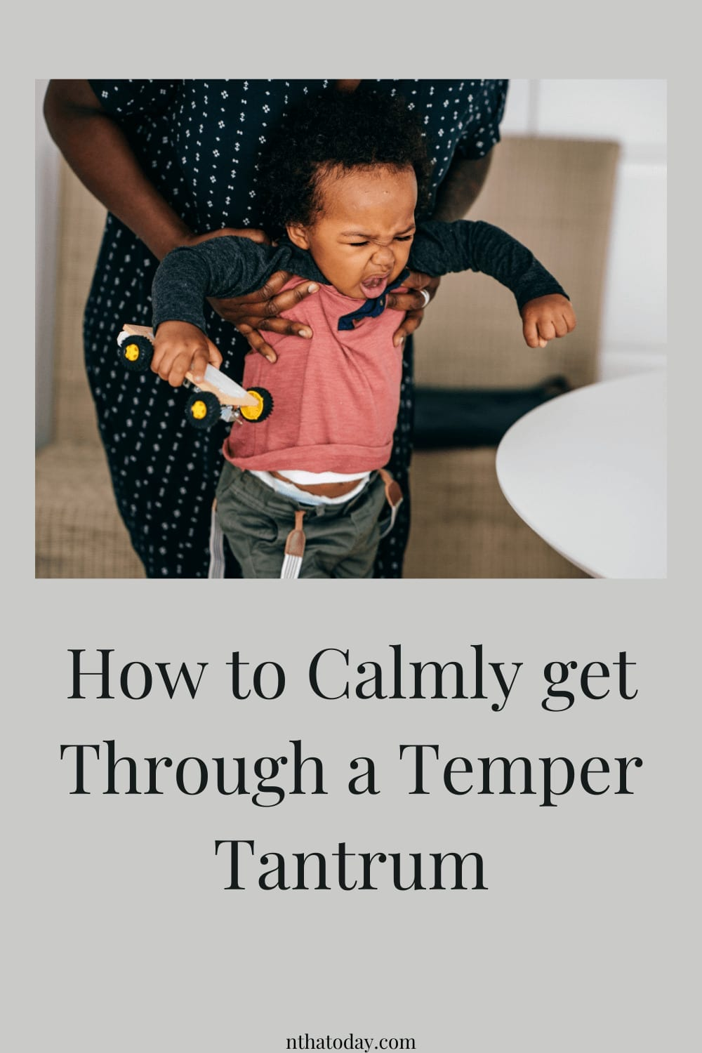 how to deal with a temper tantrum